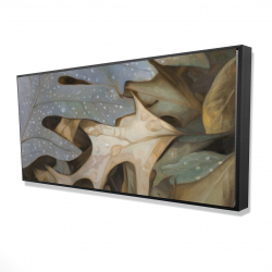 Framed 24 x 48 - 3D - Autumn leaves