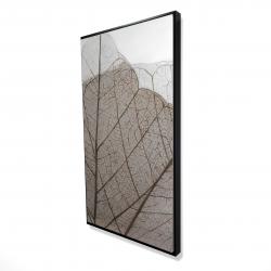 Framed 24 x 48 - 3D - Translucent dried leaves
