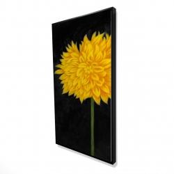Framed 24 x 48 - 3D - Yellow chrysanthemum