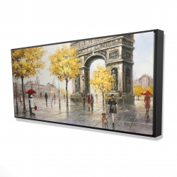 Framed 24 x 48 - 3D - Arc de triomphe to paris