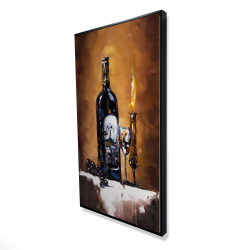 Framed 24 x 48 - 3D - Candlelit wine