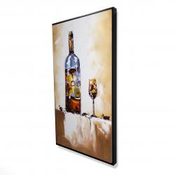 Framed 24 x 48 - 3D - White wine