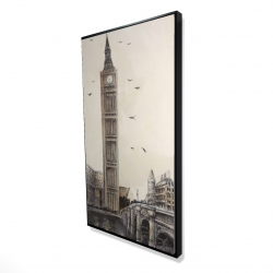 Framed 24 x 48 - 3D - Big ben in london
