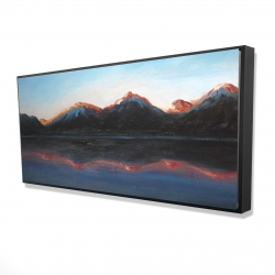 Framed 24 x 48 - 3D - Mountains landscape