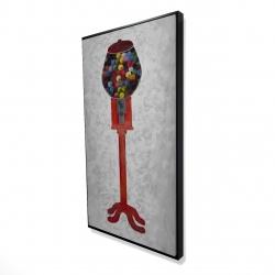 Framed 24 x 48 - 3D - Chewing gum dispenser