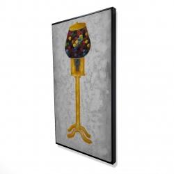 Framed 24 x 48 - 3D - Yellow gum dispenser
