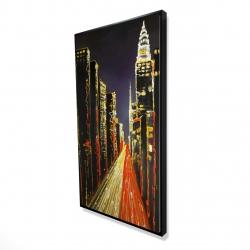 Framed 24 x 48 - 3D - Lively city