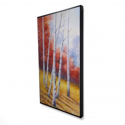 Framed 24 x 48 - 3D - Fall landscape with birches