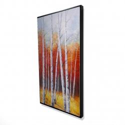 Framed 24 x 48 - 3D - Fall forest landscape