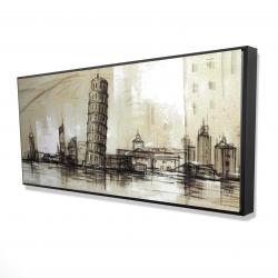 Framed 24 x 48 - 3D - Pise tower sketch