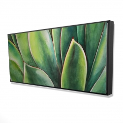 Framed 24 x 48 - 3D - Watercolor agave plant