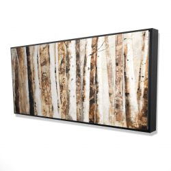 Framed 24 x 48 - 3D - Trees of an asbtract forest