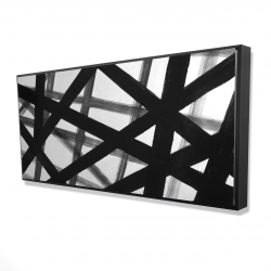 Framed 24 x 48 - 3D - Abstract bold lines