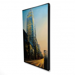 Framed 24 x 48 - 3D - In the street of empire state building