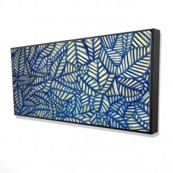 Framed 24 x 48 - 3D - Leaves patterns