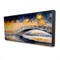 Framed 24 x 48 - 3D - Bridge in the moonlight