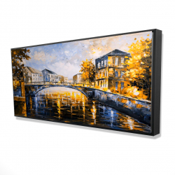 Framed 24 x 48 - 3D - Bridge by a sunny day
