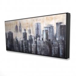 Framed 24 x 48 - 3D - Immeubles au travers des nuages