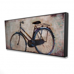Framed 24 x 48 - 3D - Industrial bicycle