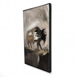 Framed 24 x 48 - 3D - Abstract buffalo