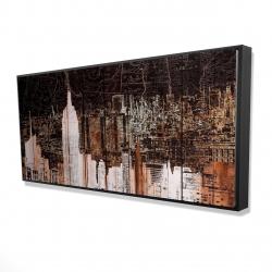 Framed 24 x 48 - 3D - The empire city of newyork