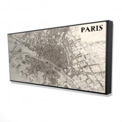 Framed 24 x 48 - 3D - Paris