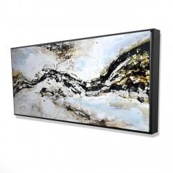 Encadré 24 x 48 - 3D - éclats de peinture abstraite et texturées