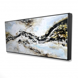 Framed 24 x 48 - 3D - Abstract and texturized paint splash