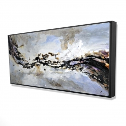 Framed 24 x 48 - 3D - Texturized abstract wave