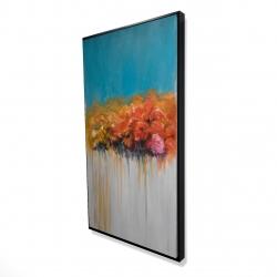 Framed 24 x 48 - 3D - Orange flowers bundle