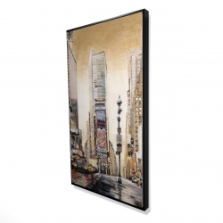 Framed 24 x 48 - 3D - Times square with skyscrapers
