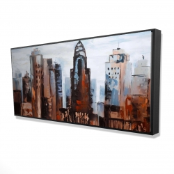 Framed 24 x 48 - 3D - Sullen day in the city