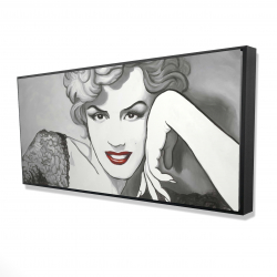 Framed 24 x 48 - 3D - Vintage style marilyn monroe