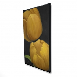 Framed 24 x 48 - 3D - Two daffodils flowers