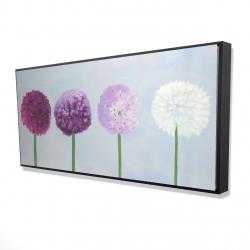 Framed 24 x 48 - 3D - Dahlia pompon