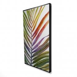 Framed 24 x 48 - 3D - Watercolor tropical palm leave