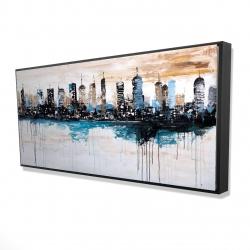 Framed 24 x 48 - 3D - Buildings on the horizon