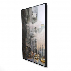 Framed 24 x 48 - 3D - Morning in the streets of new-york city