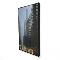 Framed 24 x 48 - 3D - Evening in the streets of new-york city