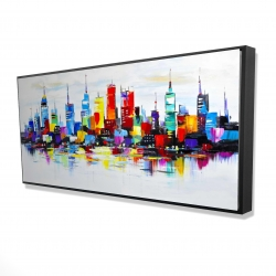 Framed 24 x 48 - 3D - Abstract and colorful city
