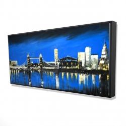 Framed 24 x 48 - 3D - Blue skyline of london