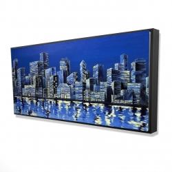 Framed 24 x 48 - 3D - City in blue
