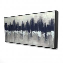 Framed 24 x 48 - 3D - Dark city