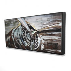 Framed 24 x 48 - 3D - Airplane propeller