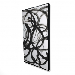 Framed 24 x 48 - 3D - Abstract curly lines
