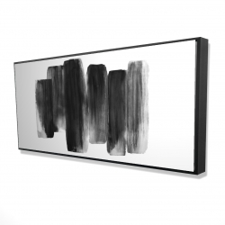 Framed 24 x 48 - 3D - Black shapes