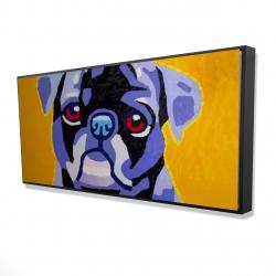 Framed 24 x 48 - 3D - Flash the pug