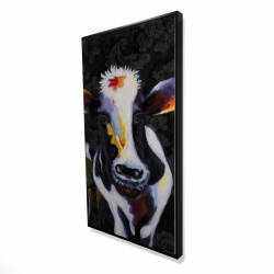 Framed 24 x 48 - 3D - Two funny cows victorian
