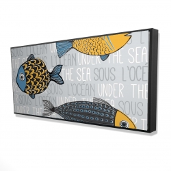 Framed 24 x 48 - 3D - Illustration of nautical fish