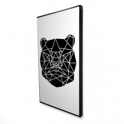 Framed 24 x 48 - 3D - Geometric bear head